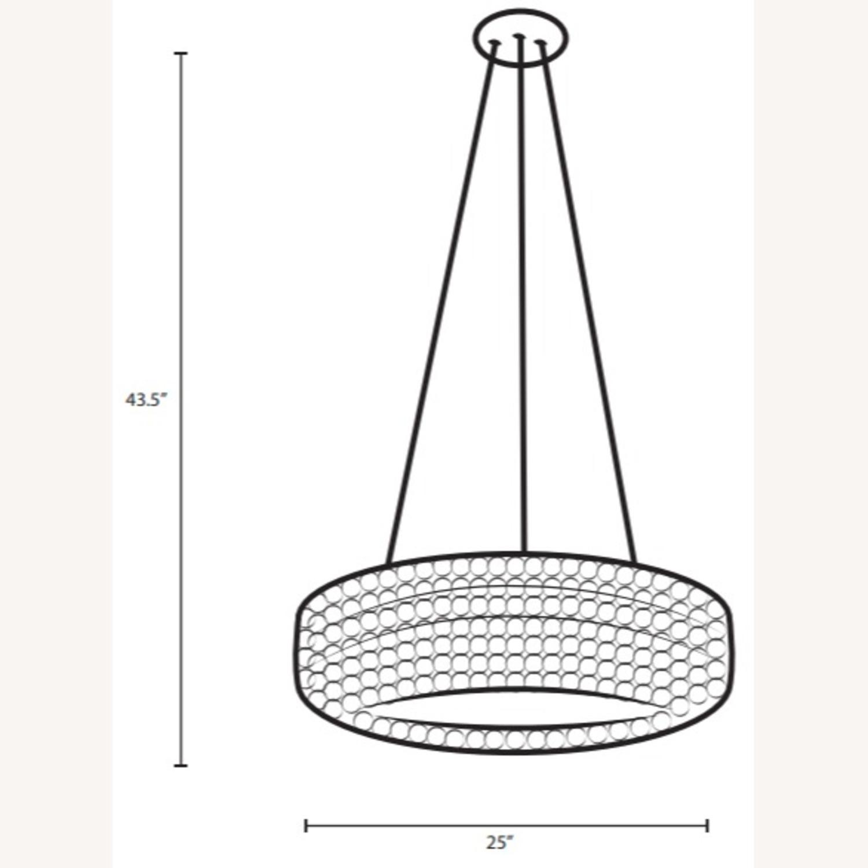 Modern Pendant Chandelier In White Glass Shade - image-4