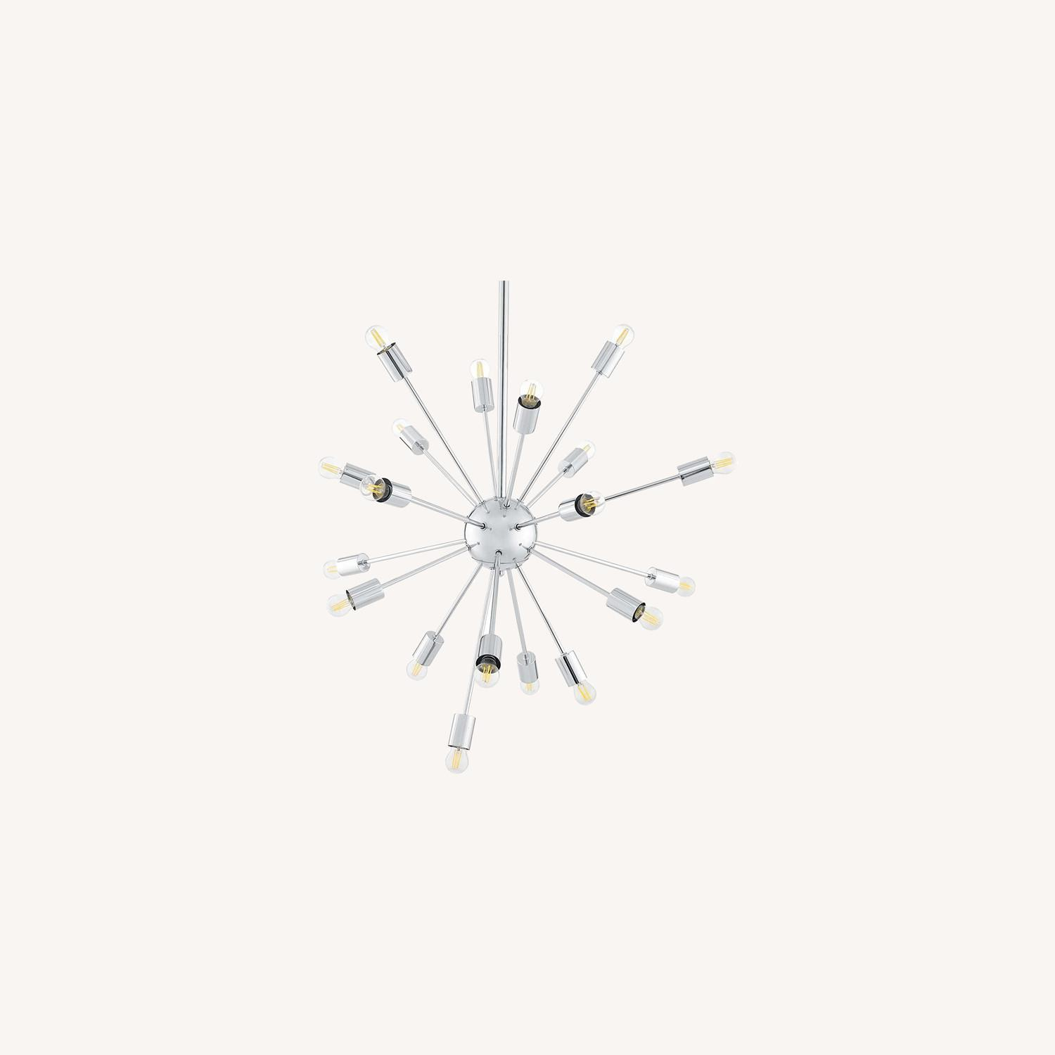 Modern Style Chandelier In Chrome-Plated Metal - image-5