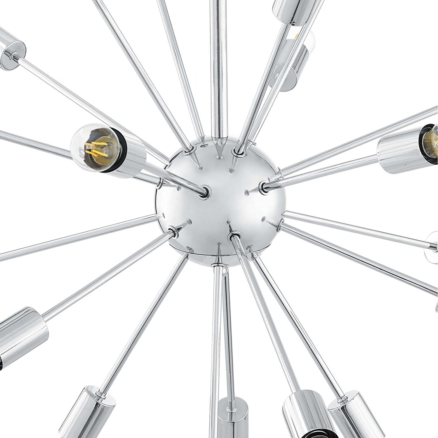 Modern Style Chandelier In Chrome-Plated Metal - image-2
