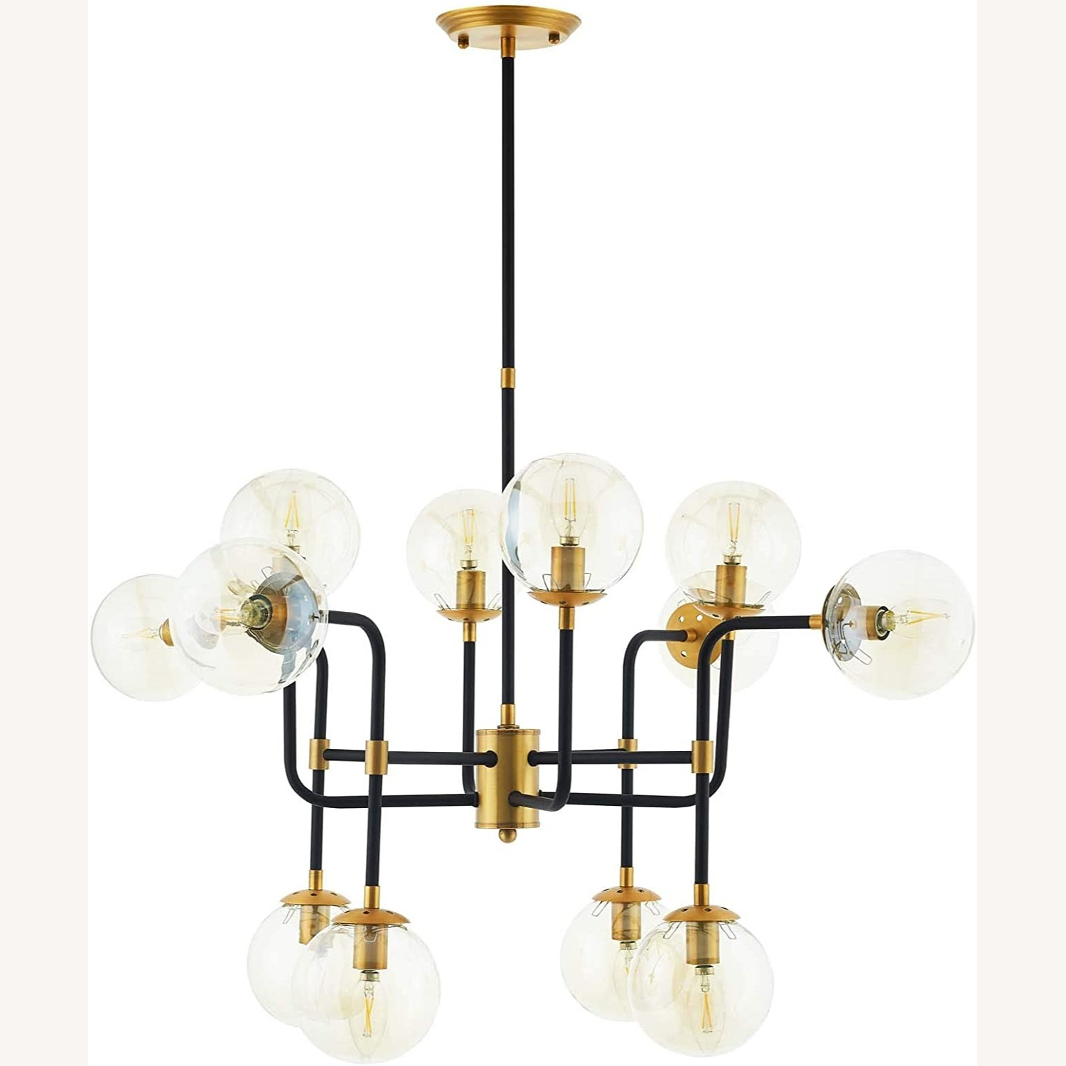 Classic Pendant Chandelier In Antique Brass Finish - image-0