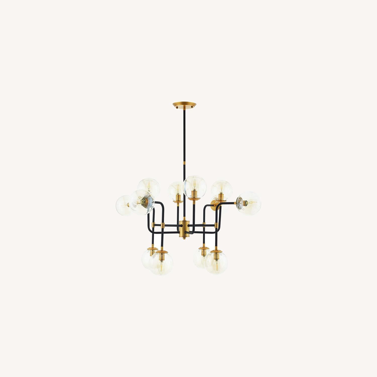 Classic Pendant Chandelier In Antique Brass Finish - image-3