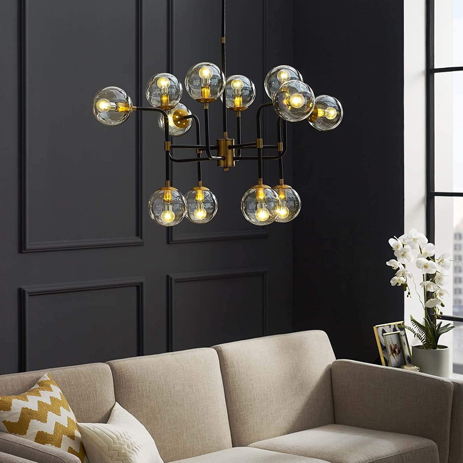 Classic Pendant Chandelier In Antique Brass Finish - image-2