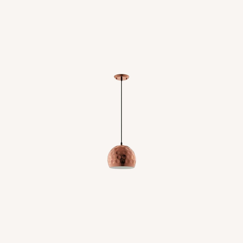 "Pendant Light In 10"" Half-Sphere Rose Gold Finish - image-5"