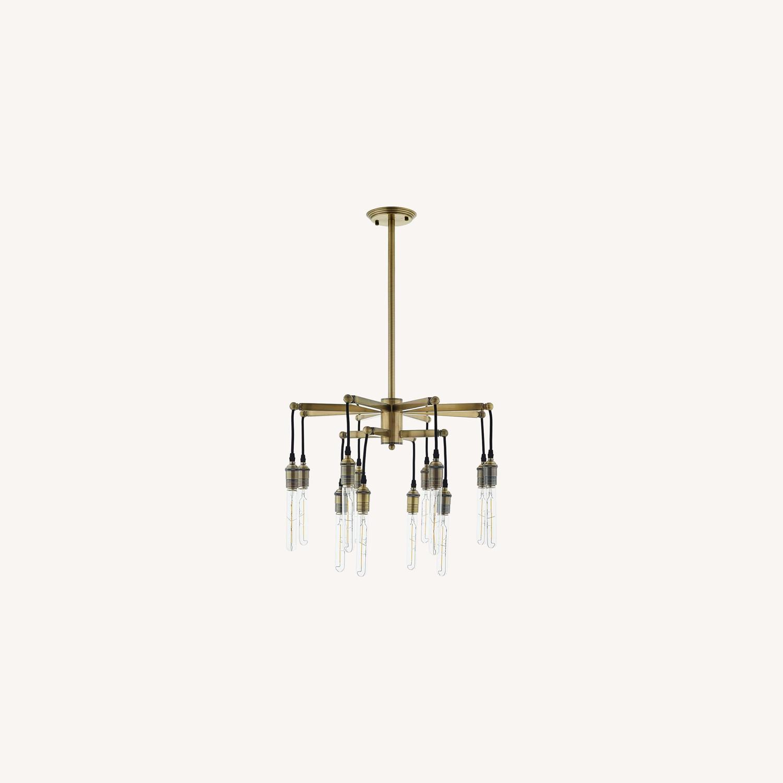 Ceiling Pendant Light in Antique Brass Finish - image-5
