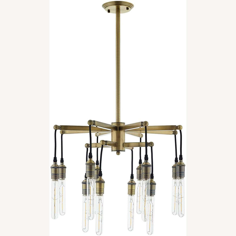 Ceiling Pendant Light in Antique Brass Finish - image-0