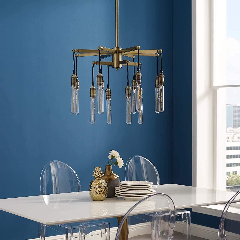Ceiling Pendant Light in Antique Brass Finish - image-2