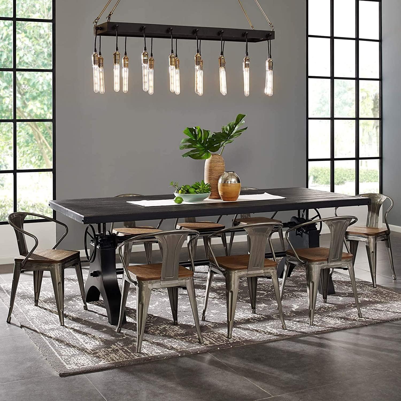 Modern Style Pendant Chandelier In Matte Black - image-1