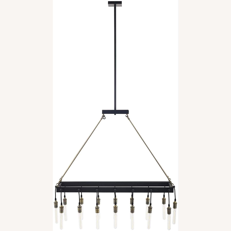 Modern Style Pendant Chandelier In Matte Black - image-0