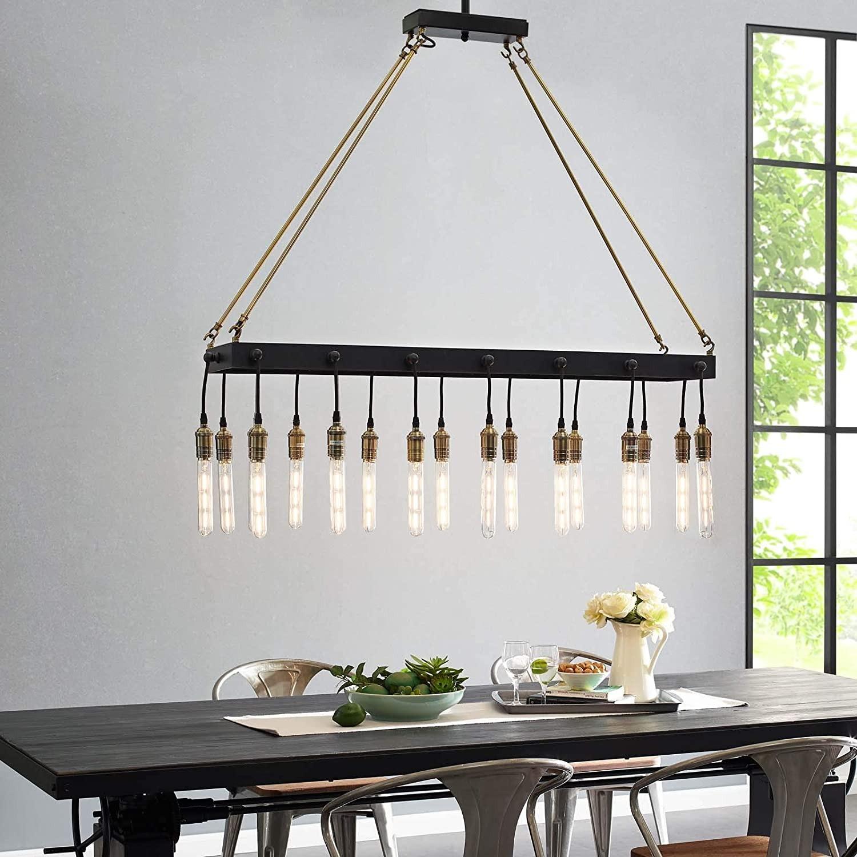 Modern Style Pendant Chandelier In Matte Black - image-3