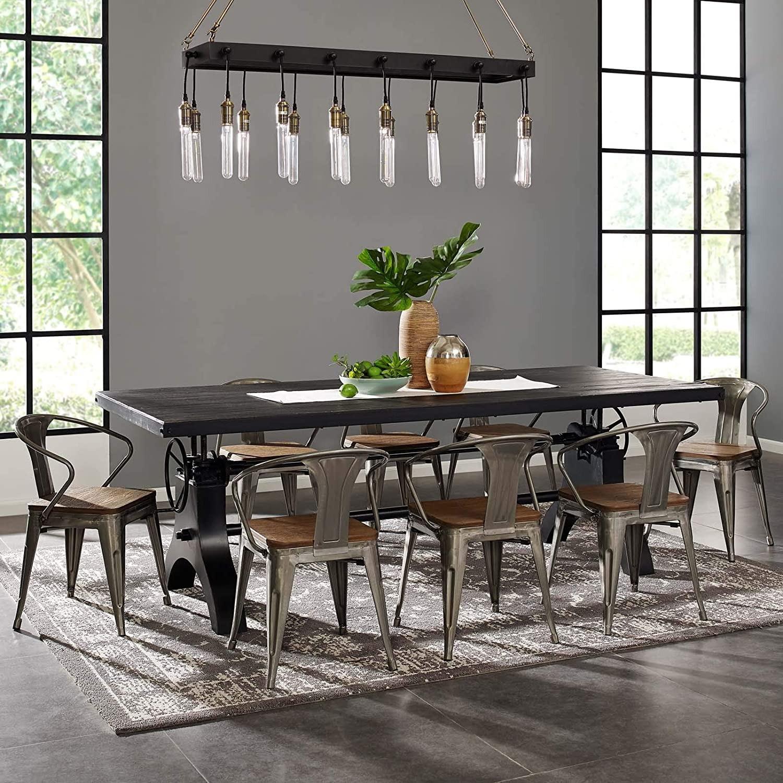 Modern Style Pendant Chandelier In Matte Black - image-2