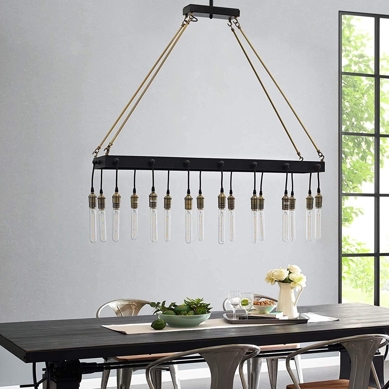 Modern Style Pendant Chandelier In Matte Black - image-4