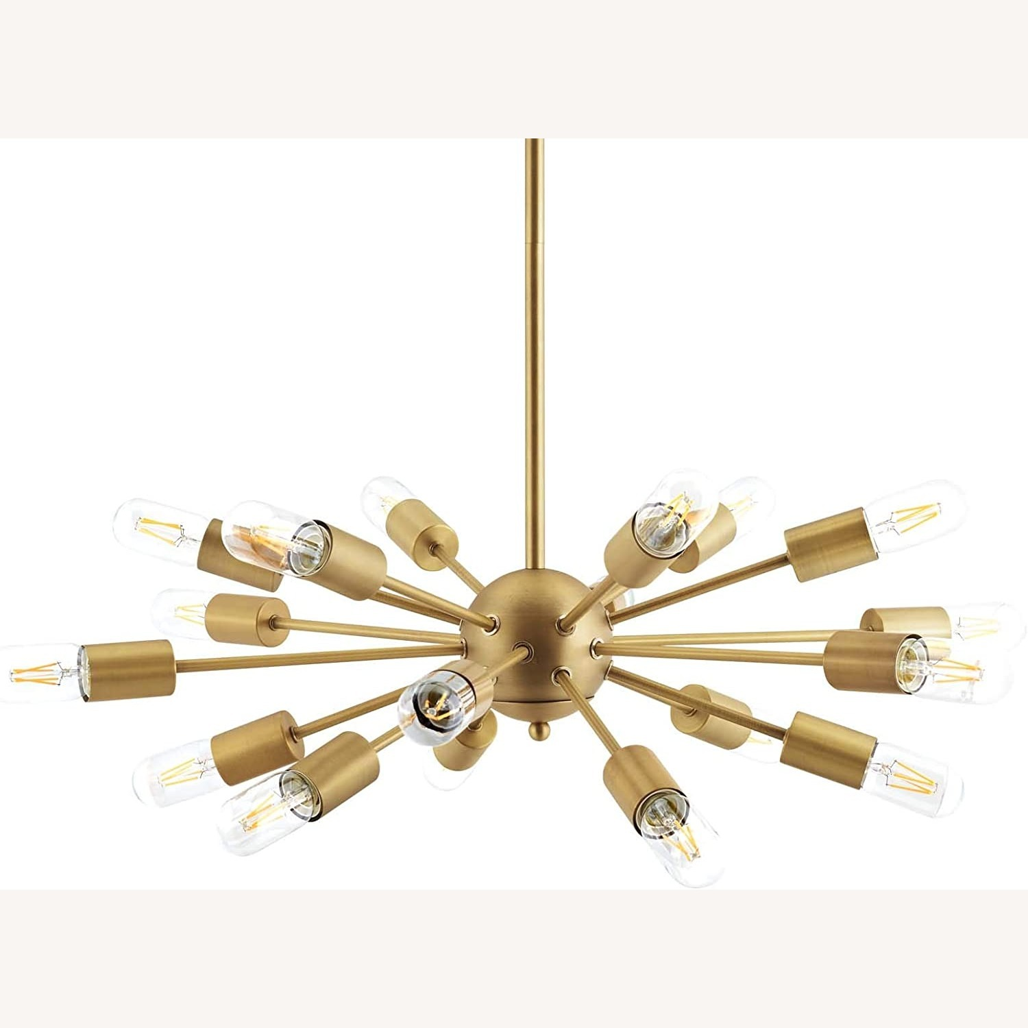 Modern Pendant Chandelier In Brass Metal Rods - image-2