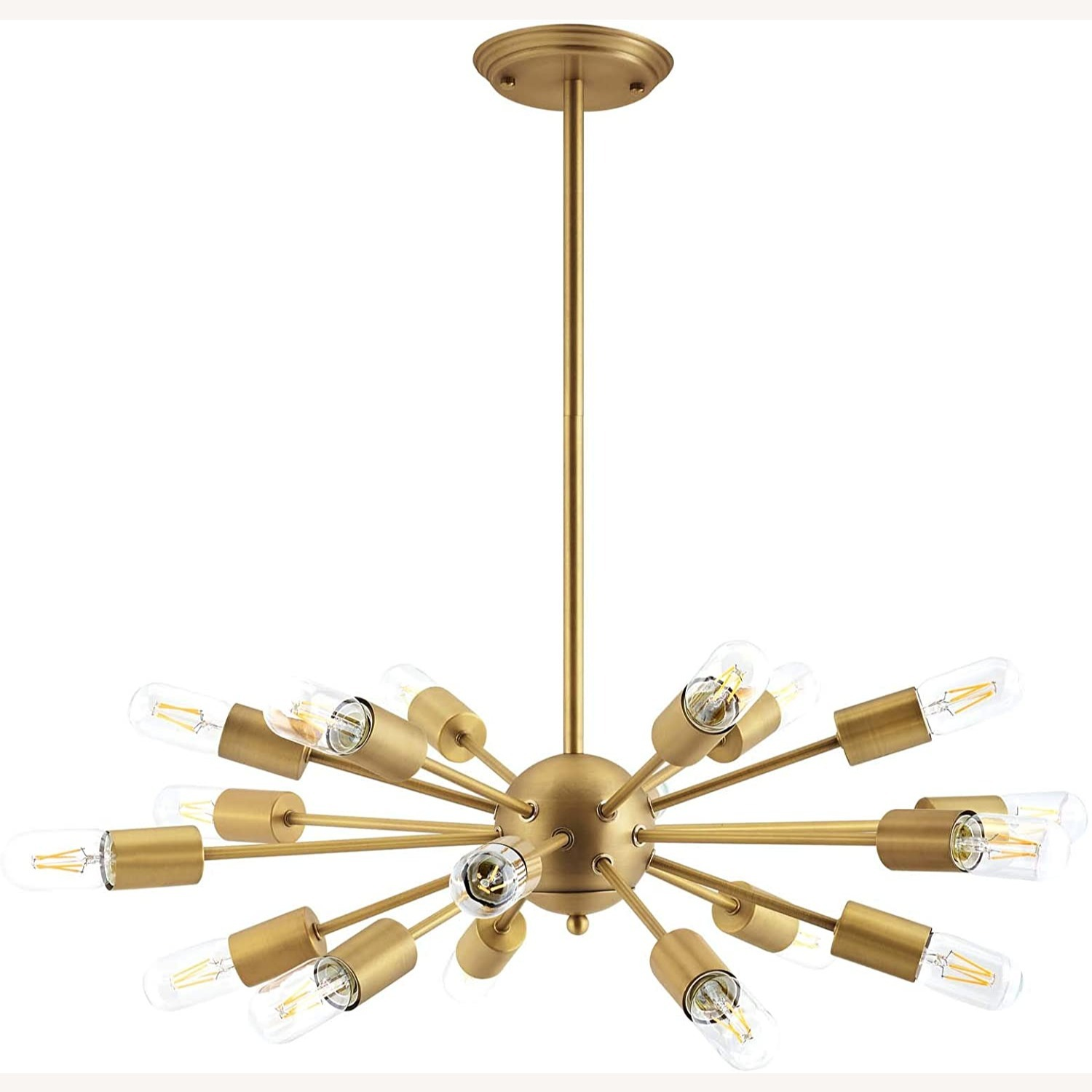Modern Pendant Chandelier In Brass Metal Rods - image-0