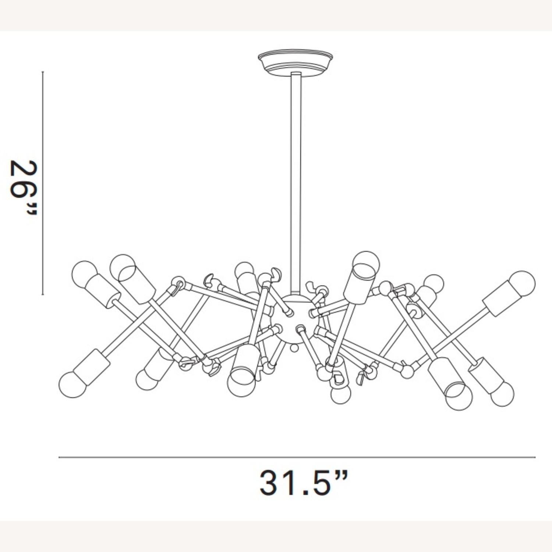 Ceiling Fixture In Powder-Coated Black Steel - image-4