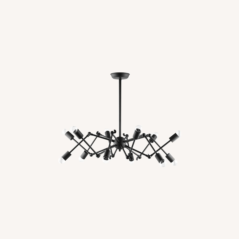 Ceiling Fixture In Powder-Coated Black Steel - image-5