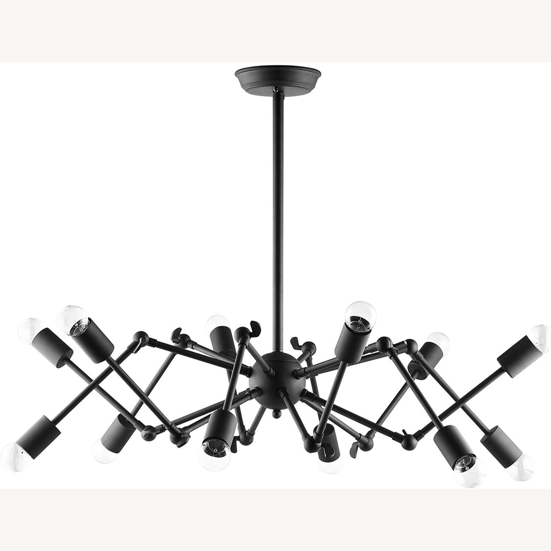 Ceiling Fixture In Powder-Coated Black Steel - image-0