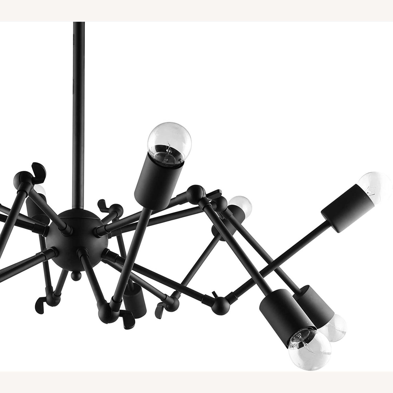 Ceiling Fixture In Powder-Coated Black Steel - image-2