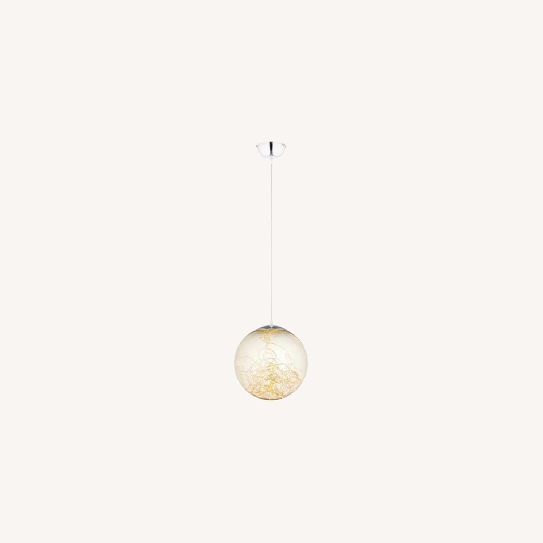 """Modern 8"""" Pendant Light In Glass Globe Design - image-4"""