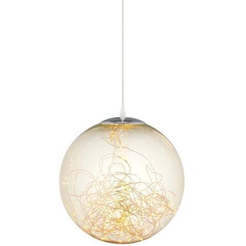 """Modern 8"""" Pendant Light In Glass Globe Design - image-1"""