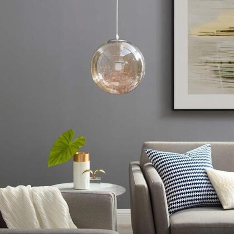"""Modern 8"""" Pendant Light In Glass Globe Design - image-3"""
