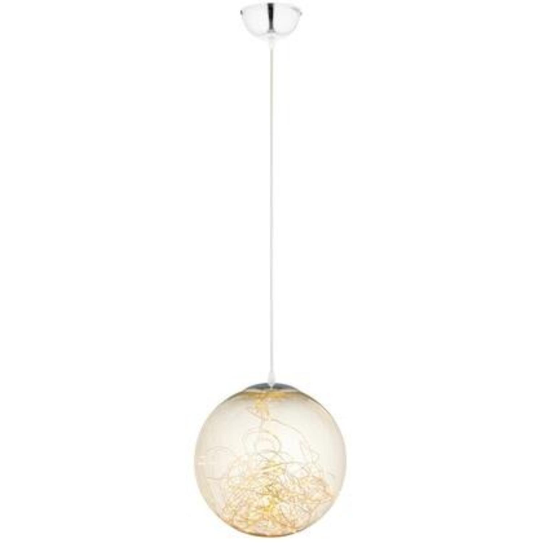 """Modern 8"""" Pendant Light In Glass Globe Design - image-0"""