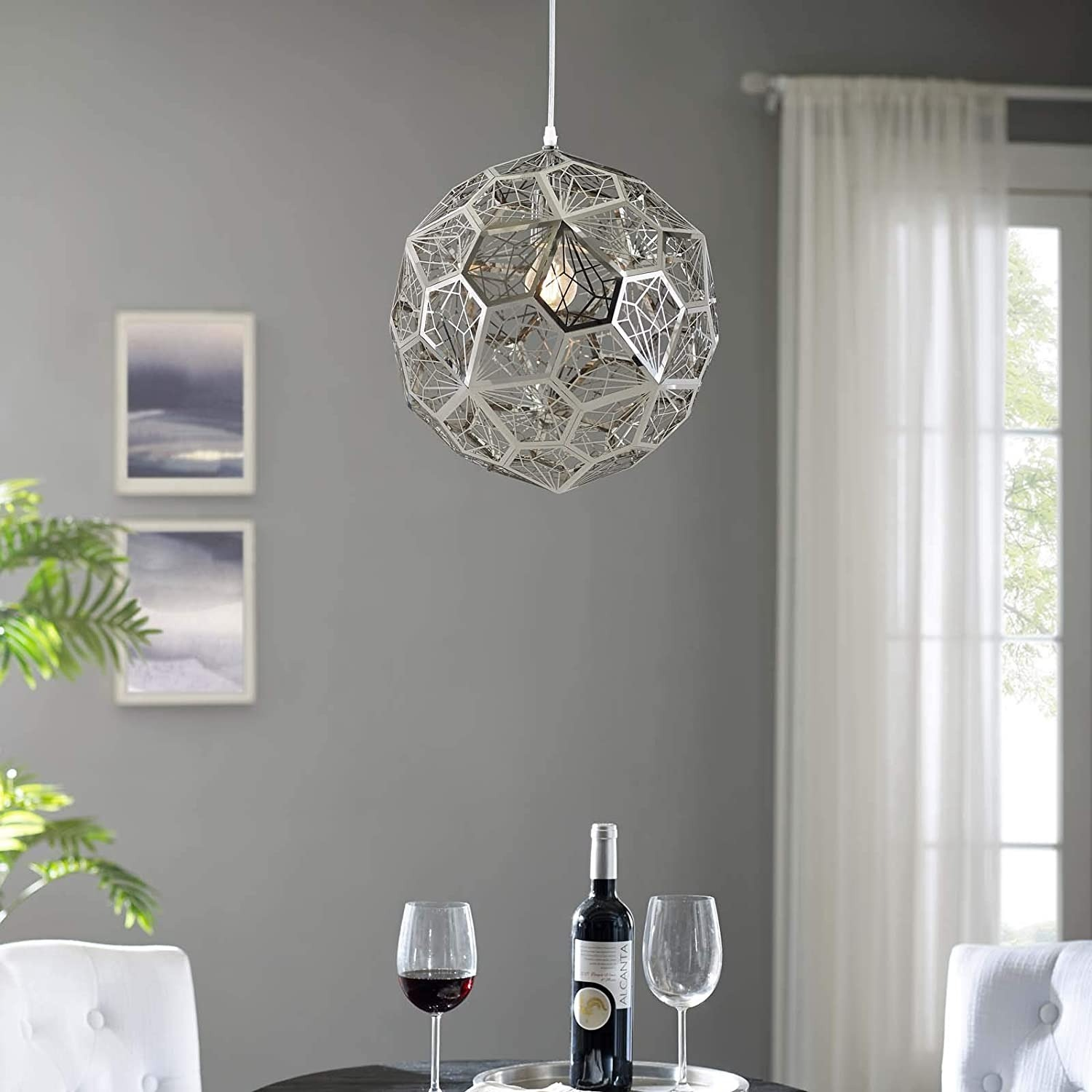 Pendant Chandelier In Diamond-Shaped Pattern - image-3