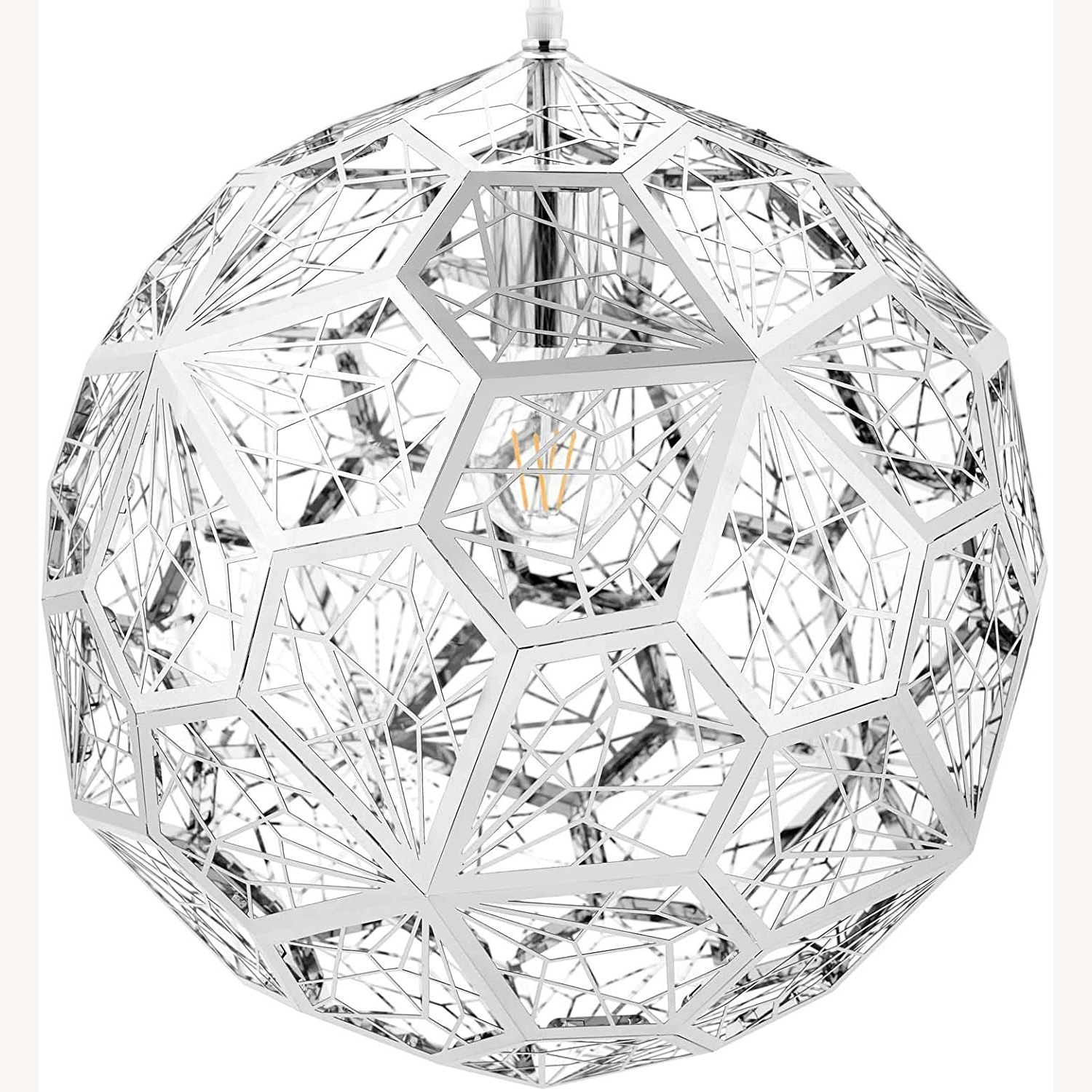 Pendant Chandelier In Diamond-Shaped Pattern - image-1