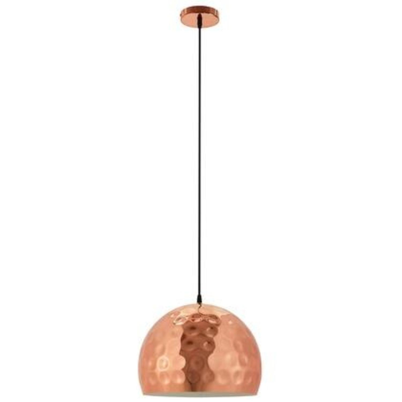 "Pendant Light In13.5"" Half-Sphere Rose Gold Finish - image-0"