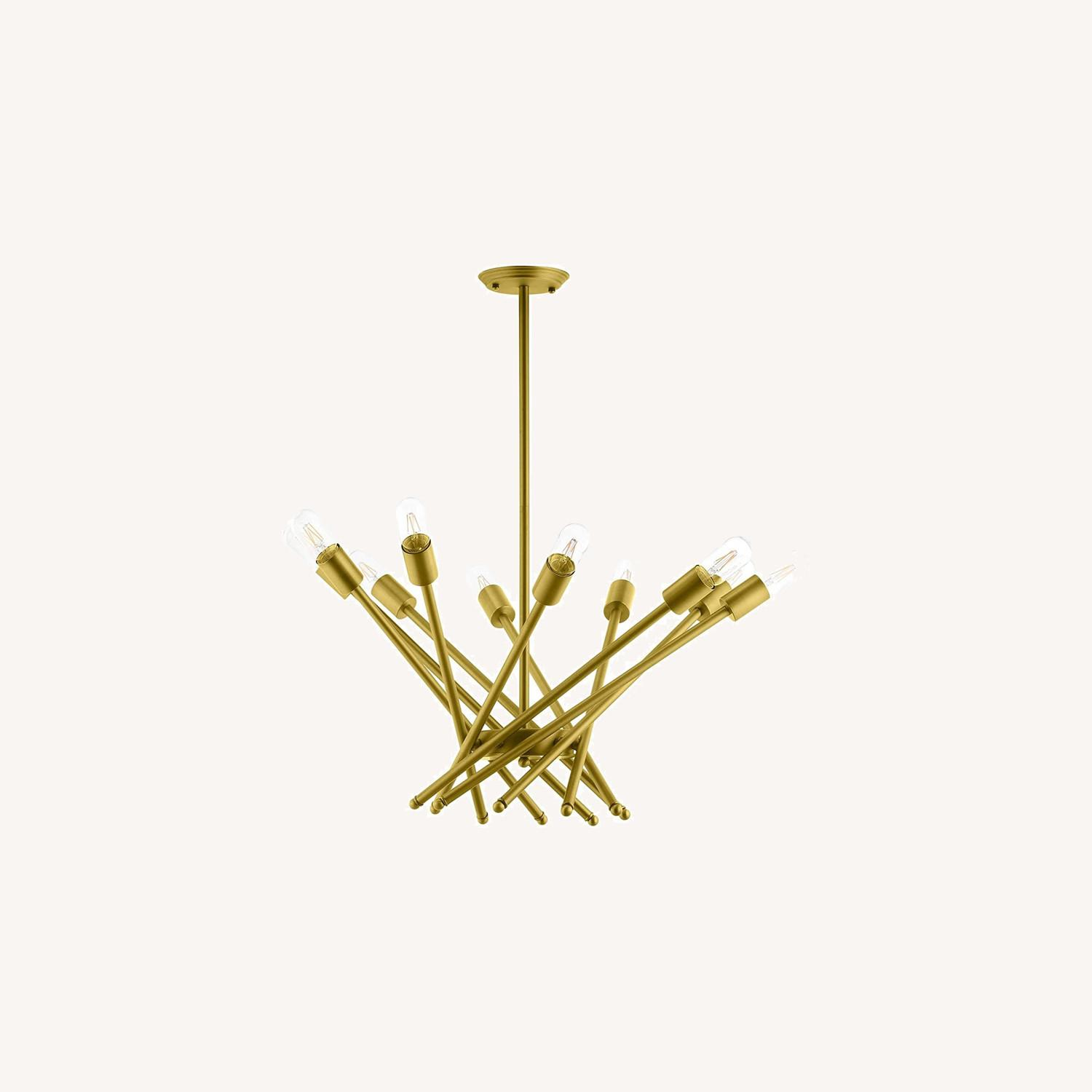 Contemporary Pendant Lamp In Brass Metal Rods - image-5
