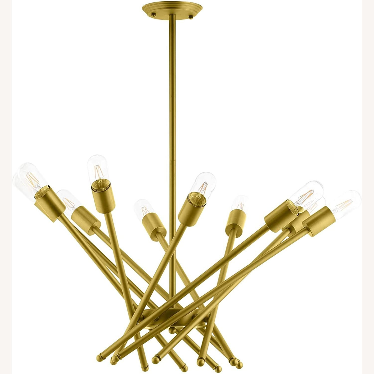 Contemporary Pendant Lamp In Brass Metal Rods - image-0