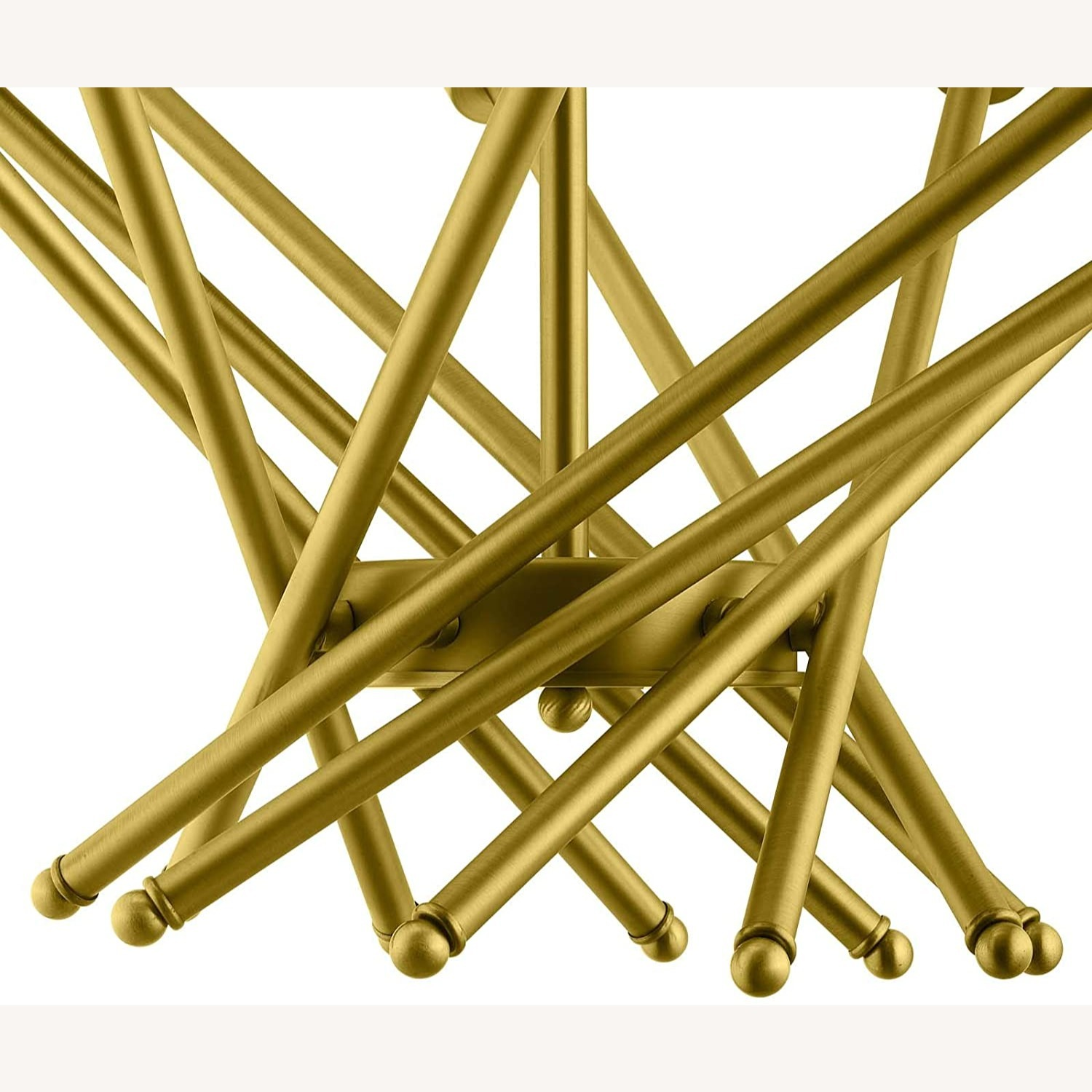 Contemporary Pendant Lamp In Brass Metal Rods - image-1