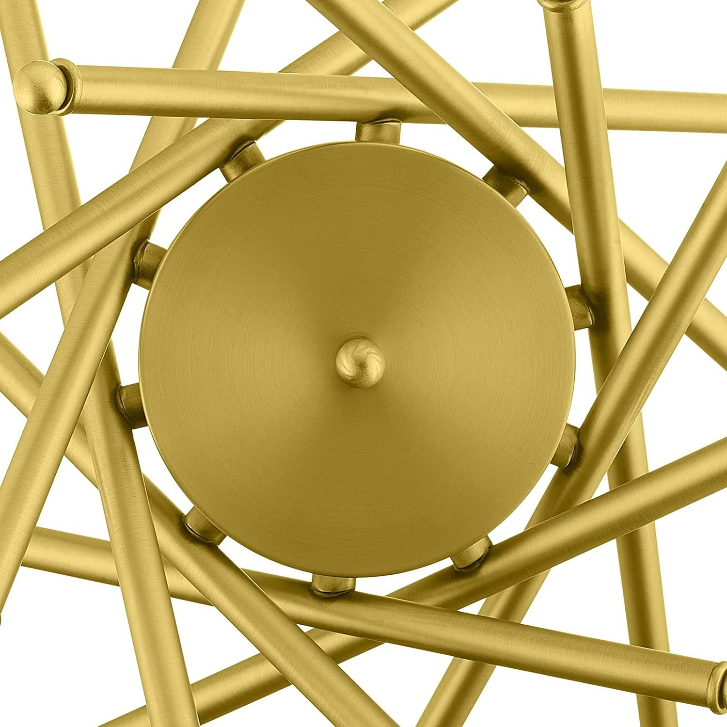 Contemporary Pendant Lamp In Brass Metal Rods - image-2