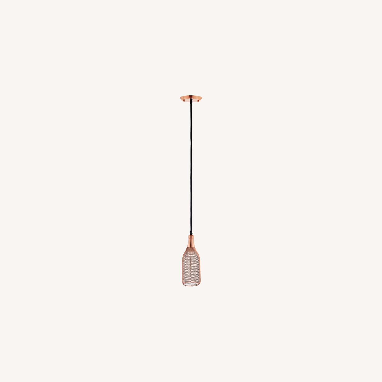 Pendant Light In Rose Gold Bottle-Shaped Finish - image-4