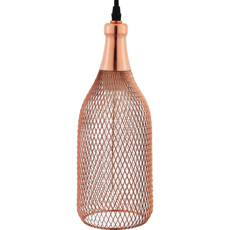 Pendant Light In Rose Gold Bottle-Shaped Finish - image-2