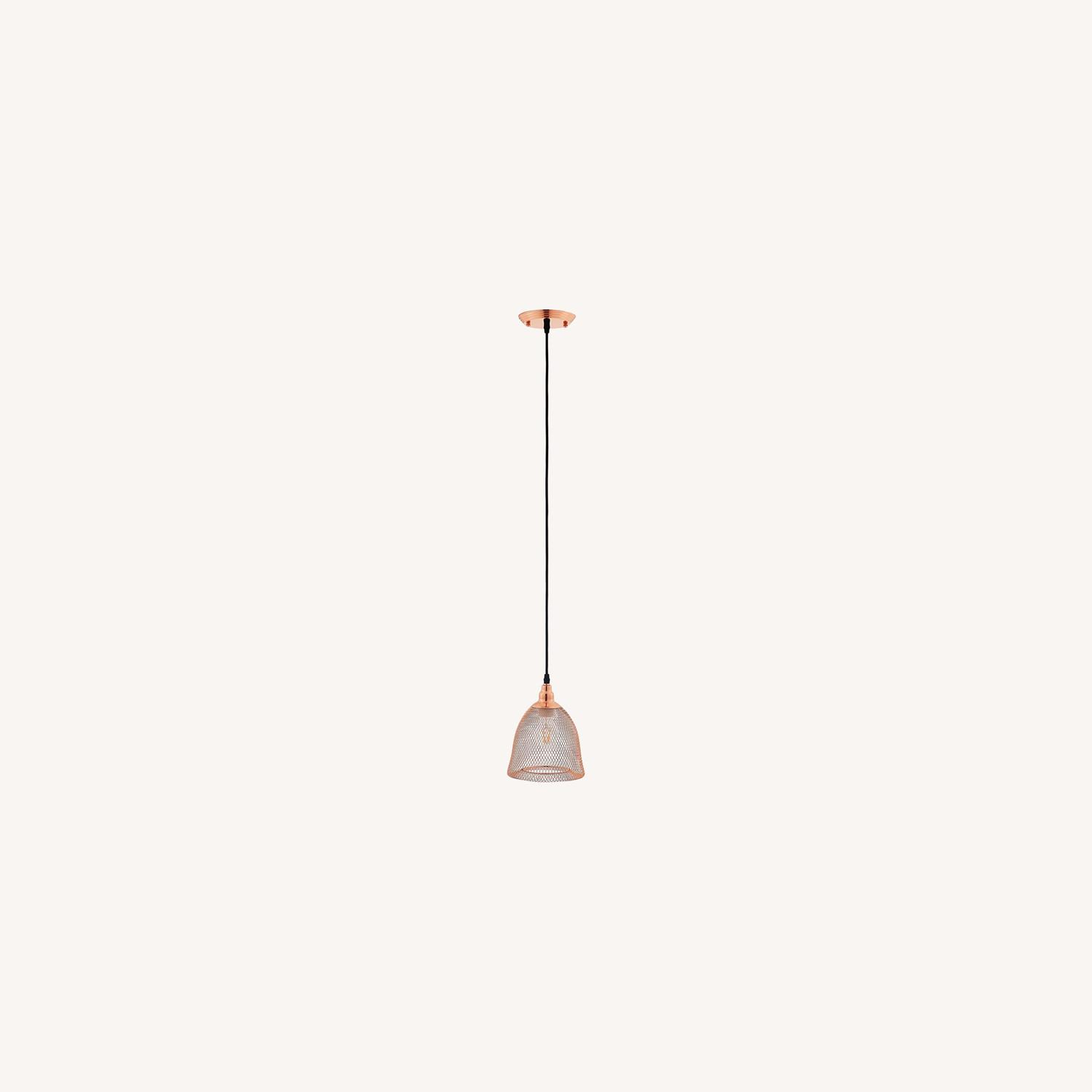 Pendant Light In Bell-Shaped Rose Gold Finish - image-4