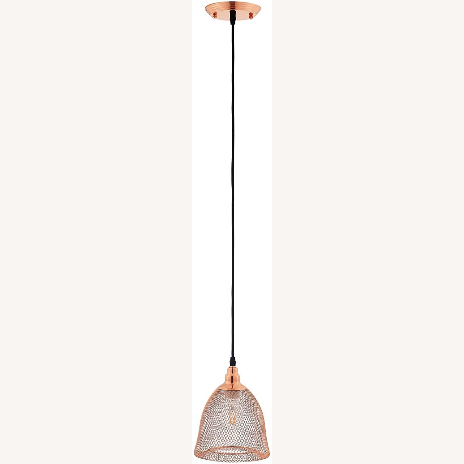 Pendant Light In Bell-Shaped Rose Gold Finish - image-0