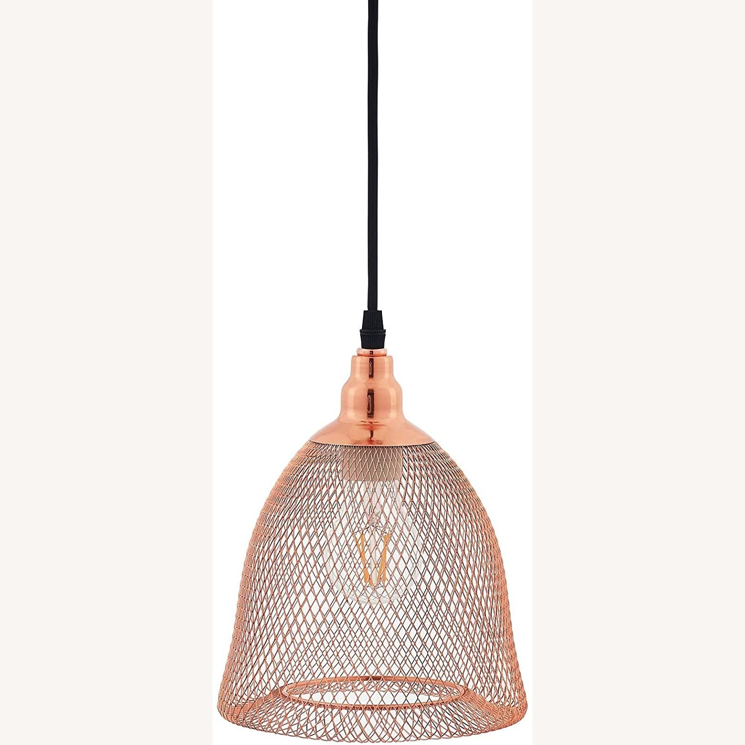 Pendant Light In Bell-Shaped Rose Gold Finish - image-1