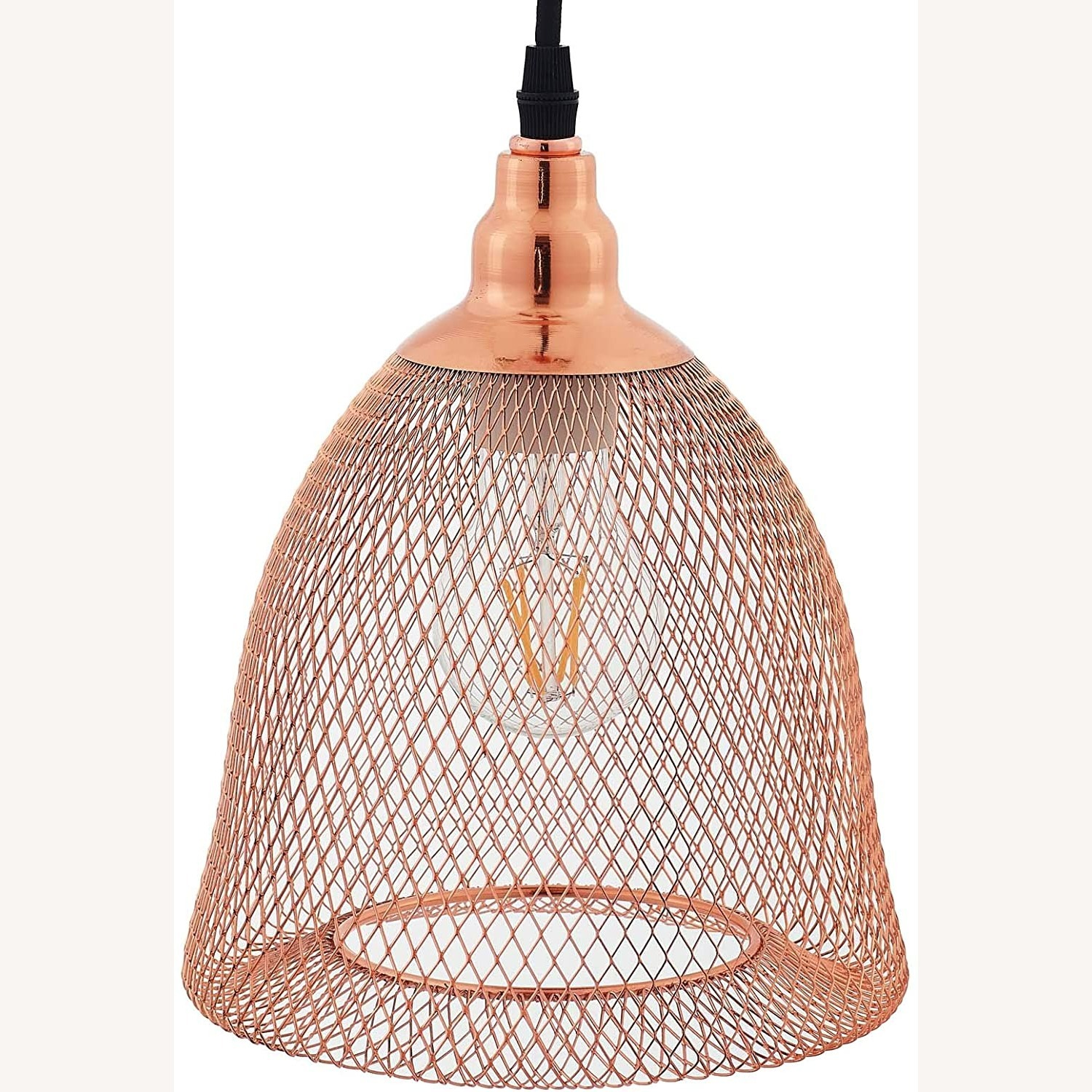 Pendant Light In Bell-Shaped Rose Gold Finish - image-2