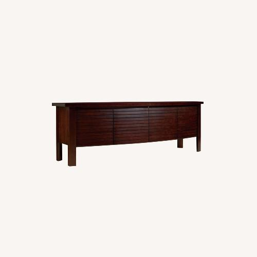 Used Sligh Umber Cherry TV Console Credenza for sale on AptDeco