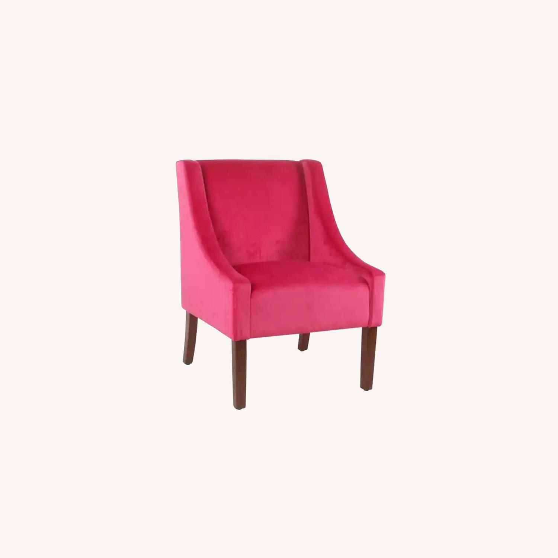 Wayfair Pink Velvet Swoop Arm Accent Chair - image-0