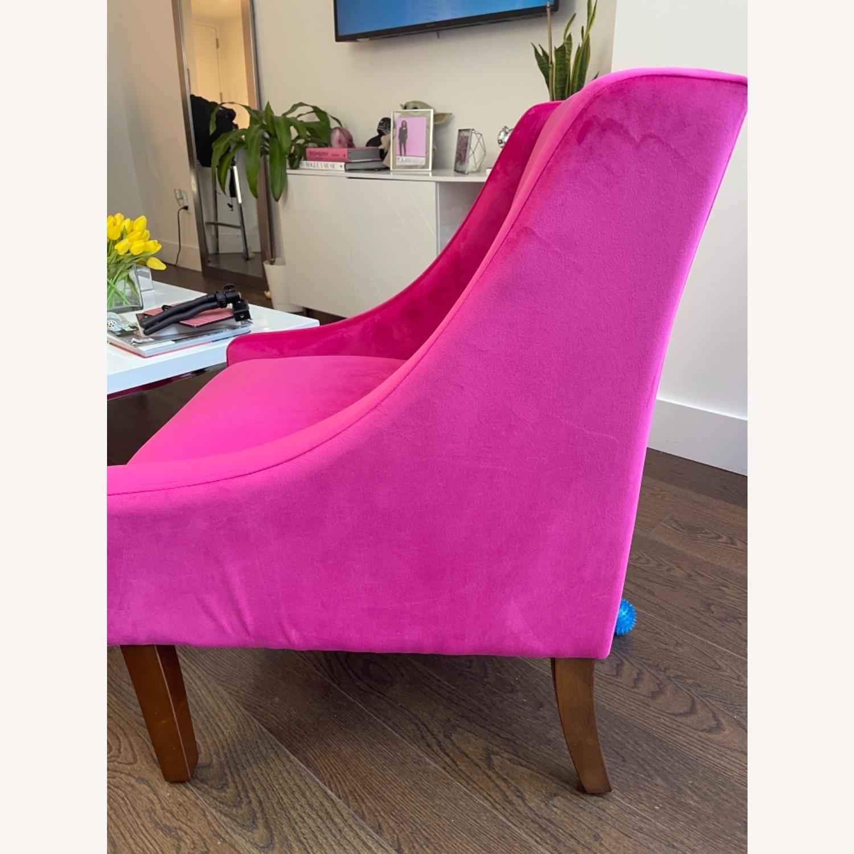 Wayfair Pink Velvet Swoop Arm Accent Chair - image-6