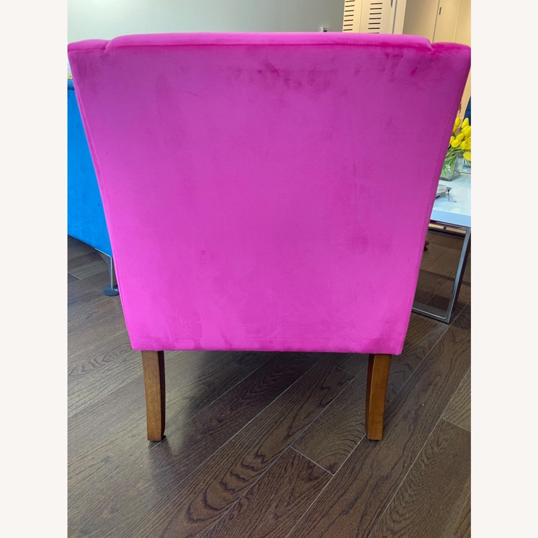 Wayfair Pink Velvet Swoop Arm Accent Chair - image-5