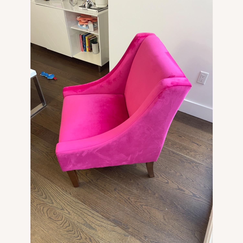 Wayfair Pink Velvet Swoop Arm Accent Chair - image-4