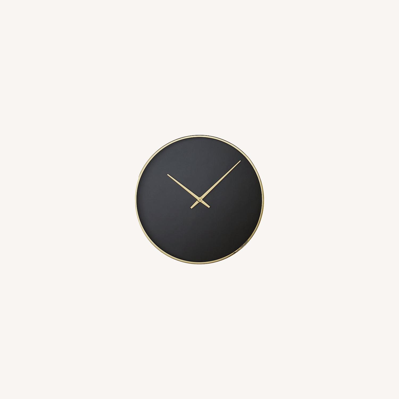 CB2 Black and Gold Wall Clock - image-0