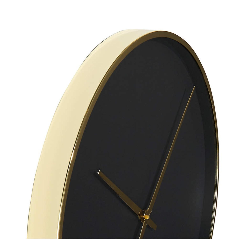 CB2 Black and Gold Wall Clock - image-4