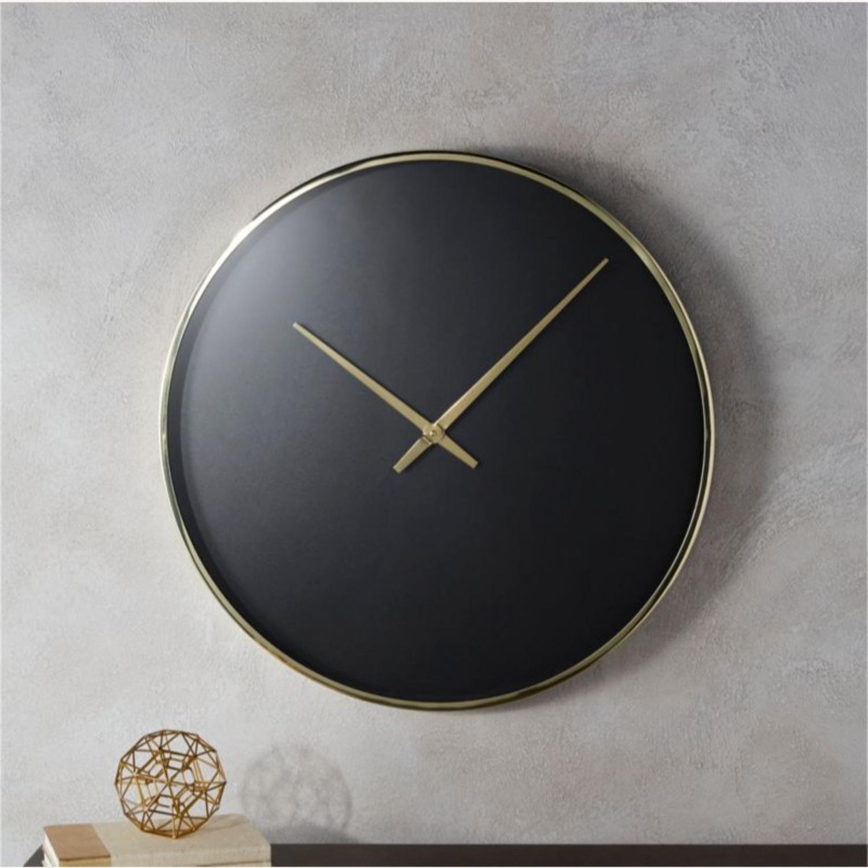 CB2 Black and Gold Wall Clock - image-3