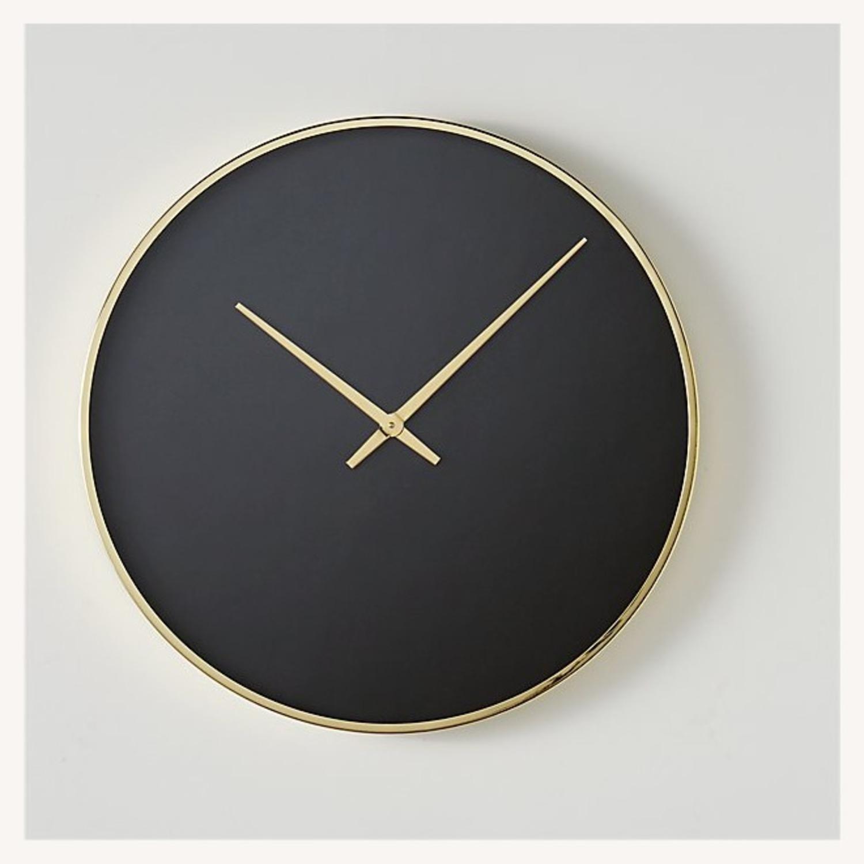 CB2 Black and Gold Wall Clock - image-1