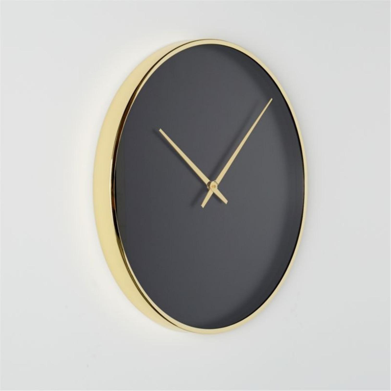 CB2 Black and Gold Wall Clock - image-2