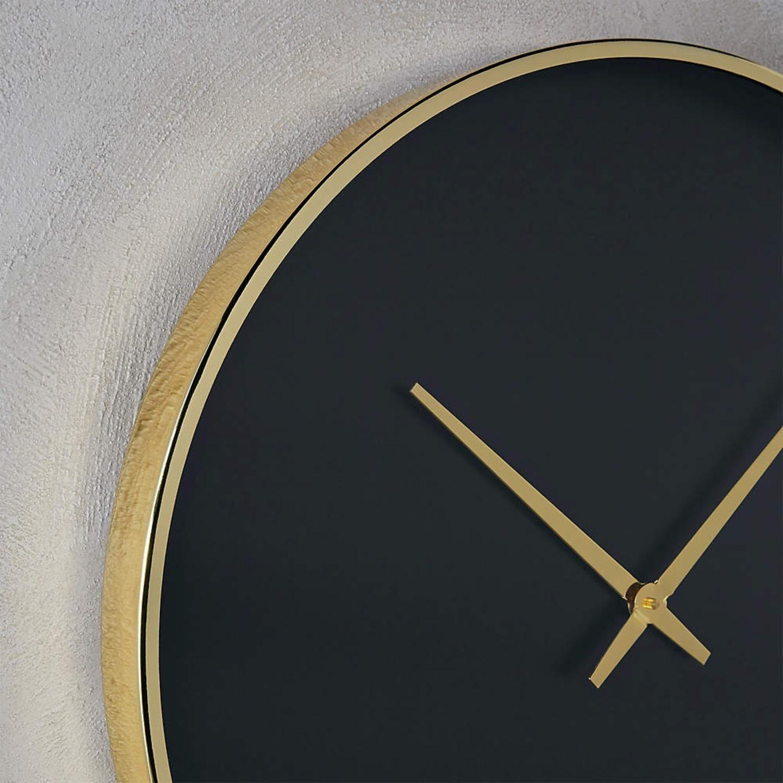 CB2 Black and Gold Wall Clock - image-5