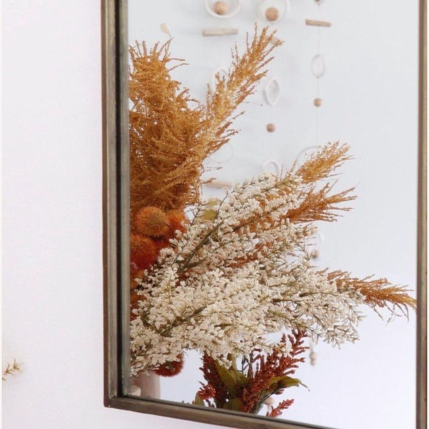 Champagne Antique Gold Rotating Mirror - image-4